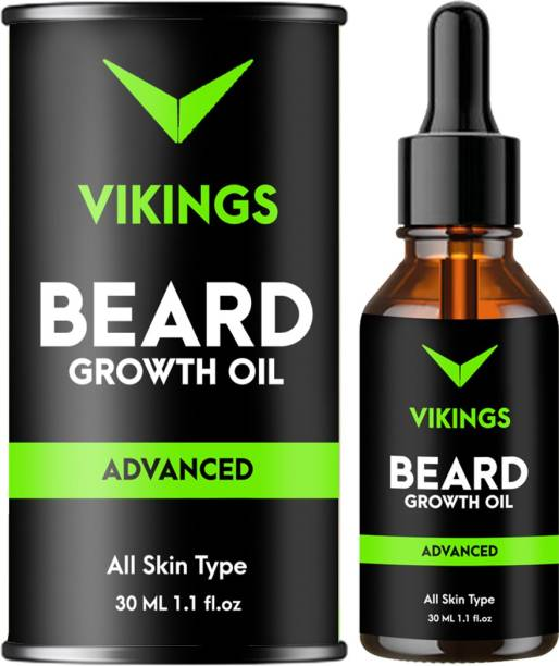 Vikings Advanced 100% Natural Beard Growth Oil - No SLS, No Paraben Hair Oil