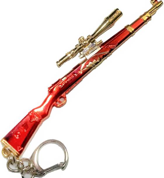 eweft Pubg Kar98 Golden Brown Premium Quality Metal Keychain (Devil Skin) Player Unknown Battle Ground Kar98 Key chain PUBG Gun Sniper Key Ring / Key Chain Key Chain Key Chain