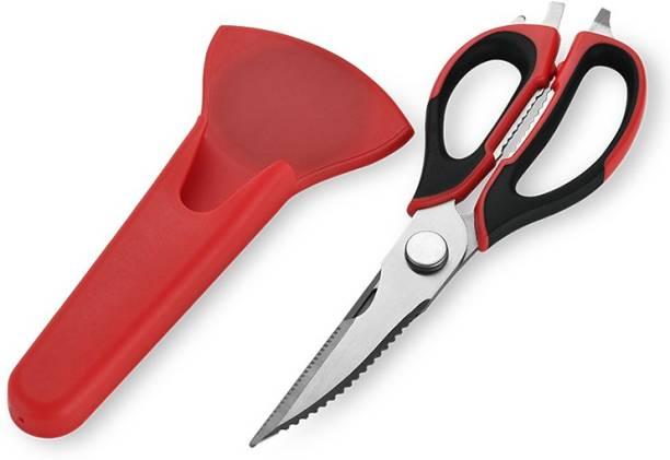 KitchenFest Kitchen Shears, Chicken Bone Scissor, Heavy Duty Detachable Kitchen Scissor 10 in 1 Multi-Purpose Utensils with Magnetic Holder Stainless Steel All-Purpose Scissor