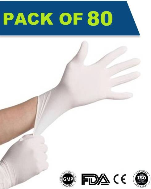 DM SPECIALLY FOR SPECIALIST - Premium Quality Latex Gloves Hand Protection Examination Glove for Hospital, Clinic, Sanitary & Kitchen Large Size Latex Examination Gloves