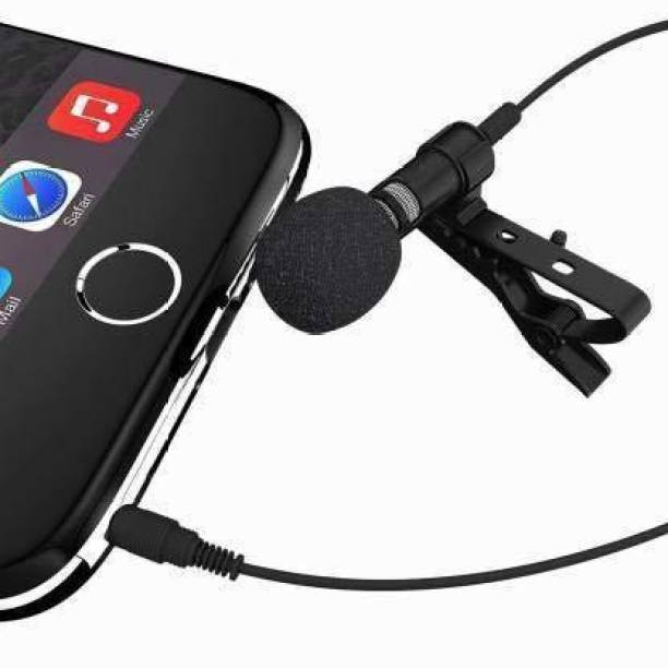 Miraaz METAL Mic For Youtube   Collar Mike for Voice Recording   Lapel Mic Mobile, PC, Laptop, Android Smartphones, Microphone (Black) Microphone