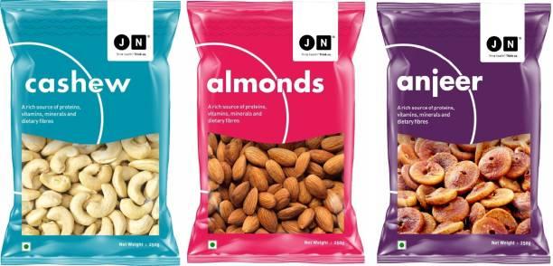 Jn Premium Almond, Cashew & Anjeer Combo Pack of 3