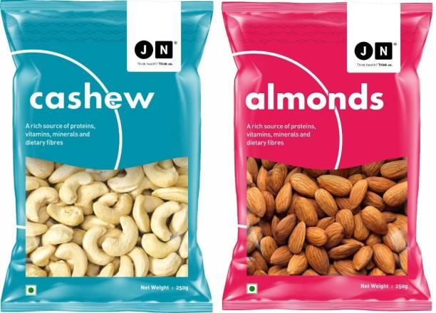 Jn Premium Almond & Cashew Combo Pack of 2