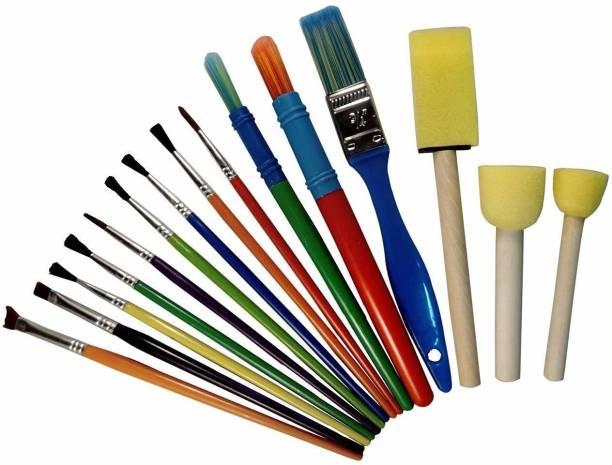 ESAANVIKA Bristle Brushes & Foam Brushes For Painting Set of 15
