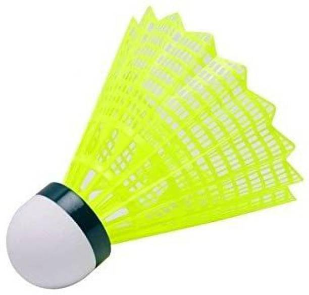 Bixxon Badminton Nylon Shuttlecock Excellent Flight & Match Play - Pack of 6 Nylon Shuttle  - Green, White