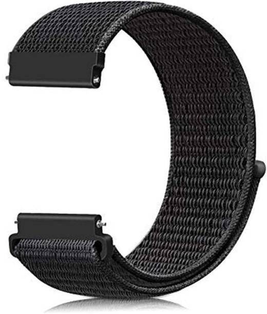 YGS Color FitPro 3 Nylon Strap Black Smart Watch Strap