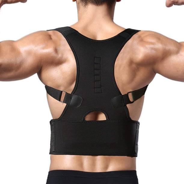 Evrum Magnetic Back Brace Posture Corrector Therapy Shoulder Belt for Back Pain Relief Back & Abdomen Support