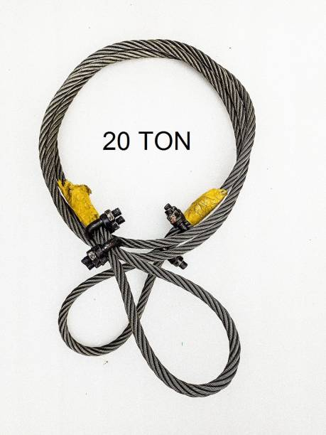STYLEX POLYMERS HEAVY VEHICLE LIFTING WIRE ROPE 20T 4.5 m Towing Cable