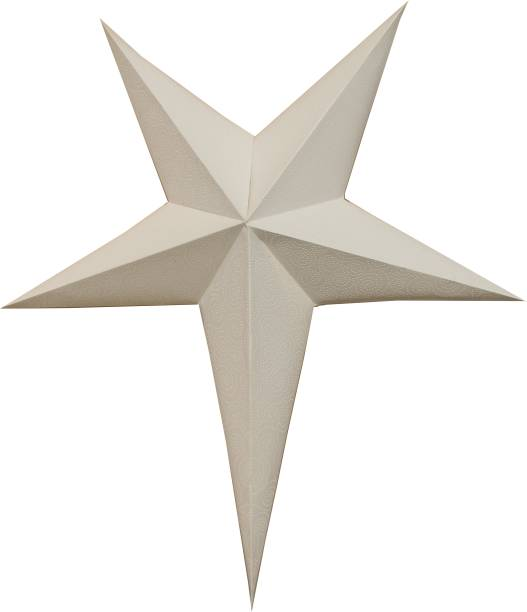 Glun WHITE-SPIRAL-MAGIC PAPER STAR Lantern Lampshade for All Party & Festival/Hanging Christmas Xmas Day Decoration Birthday/Party Home/Diwali (Light Not Included) 80 CM Hanging Star Pack of 1