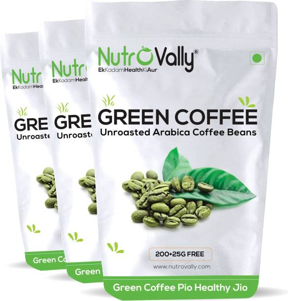 NutroVally Organic green coffee beans for weight loss 200g+25g Free Instant Coffee