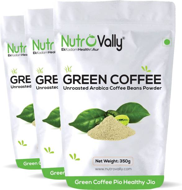 NutroVally Organic green coffee powder for weight loss 350g Instant Coffee