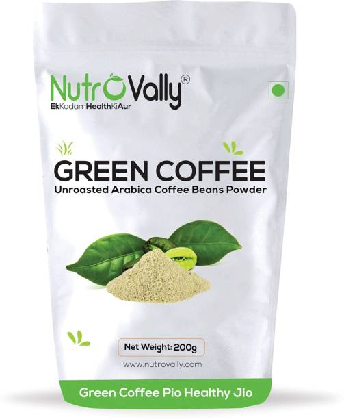 NutroVally Organic green coffee powder for weight loss Instant Coffee