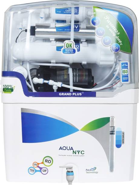 Grand plus NYC 12 L RO + UV + UF + TDS Water Purifier