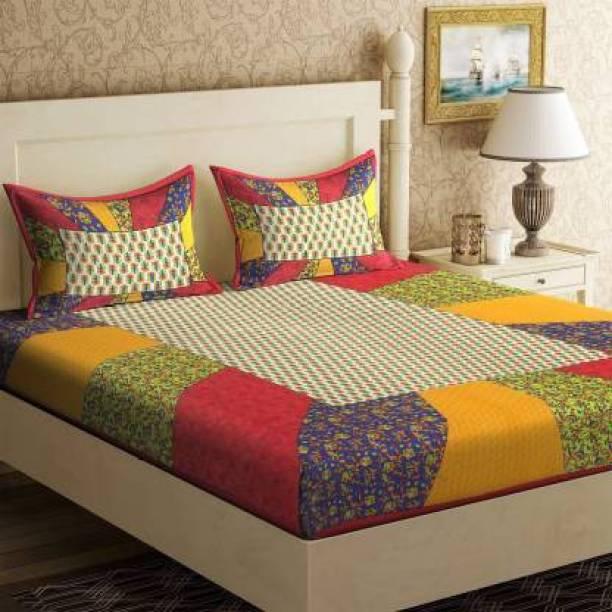 BEDAFFAIR 144 TC Cotton Double Printed Bedsheet