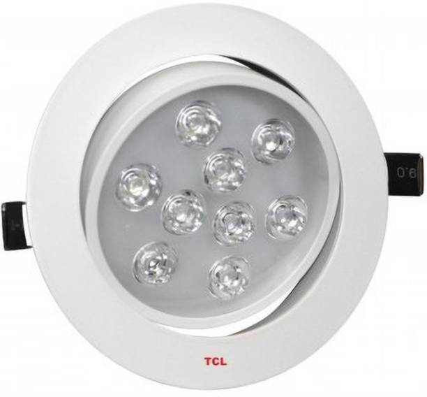 TCL TCL LED BICYCLO CLEAR LENS CEILING LIGHT - 9W - 6000K (COOL WHITE)- 180° ROTATIVE - HEAT RESISTANT ALUMINIUM - RECESSED CEILING LIGHT - WHITE BODY Recessed Ceiling Lamp