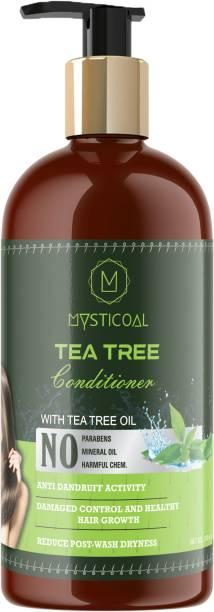 Mysticoal Tea tree oil Anti-Dandruff Conditioner - NO Mineral Oil, Parabens, Silicones