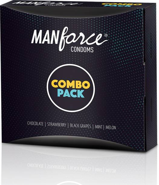 MANFORCE Combo Pack Chocolate, Strawberry, Coffee, Black Grapes, Melon Condom