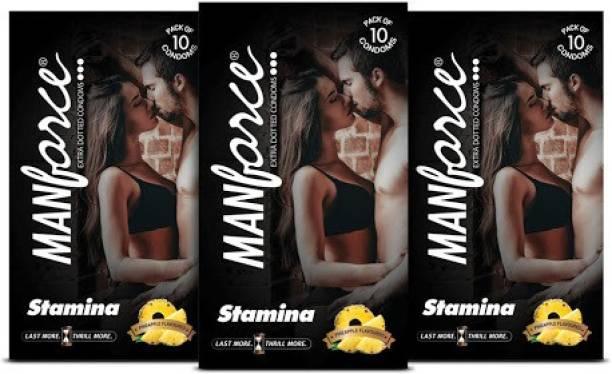 MANFORCE Staminas, Pineapple Flavoured Condom