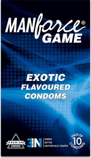 MANFORCE 3 IN 1 Games, Exotic Flavoured Condom