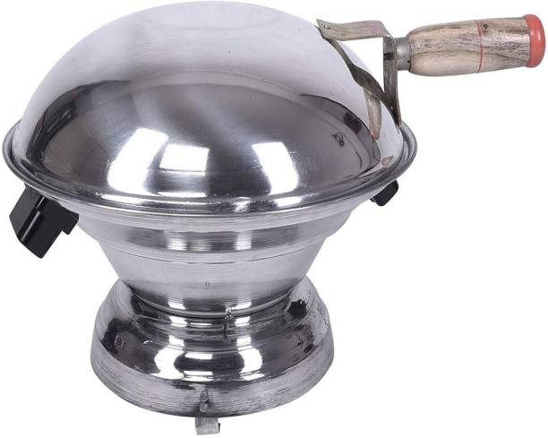 Quantech Aluminium Multi Purpose Oven, Gas Tandoor/Bati/Pizza Maker Food Steamer