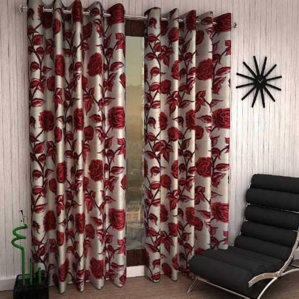 Flipkart SmartBuy 152 cm (5 ft) Polyester Window Curtain (Pack Of 2)