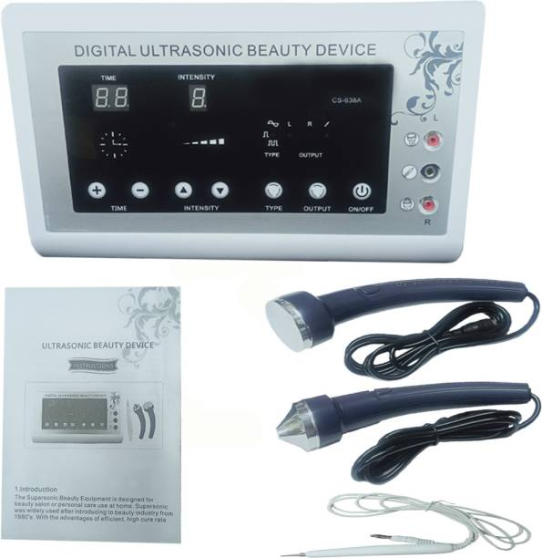 Pooja Enterprises Digital Ultrasonic Beauty Device for Facial Cleansing With Mole & Wart Remover l Spot Remover Facial Cleanser System & Brush