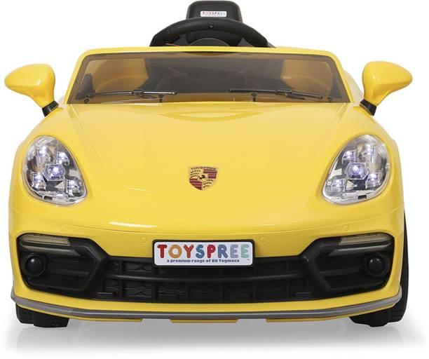 Toyspree Yellow Vegas car Rideons & Wagons Battery Operated Ride On