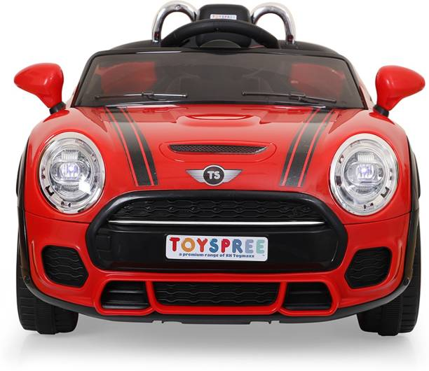 Toyspree Red Cooper car Rideons & Wagons Battery Operated Ride On