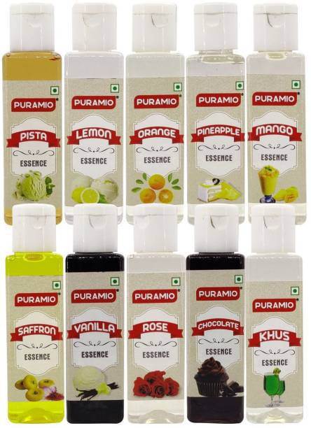 PURAMIO Culinary essence, (Pack of 10) - Each 30ml Mixed Fruit Liquid Food Essence