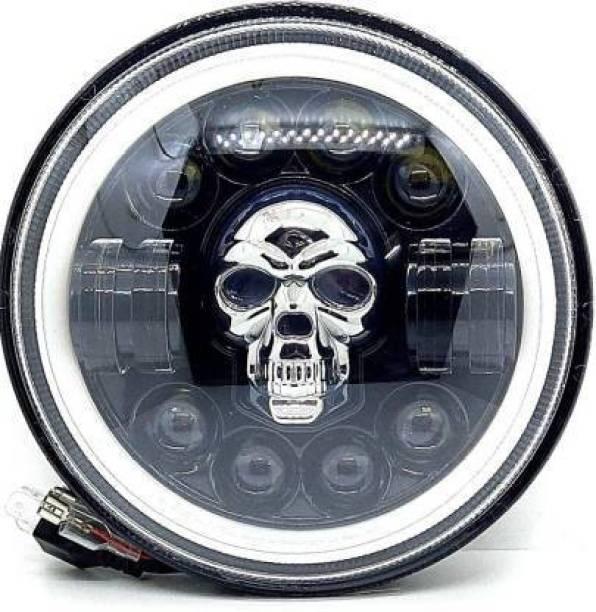 auto trends LED Headlight for Royal Enfield, Mahindra Bullet Trials 350, Bullet 350, Interceptor 650, Classic 500