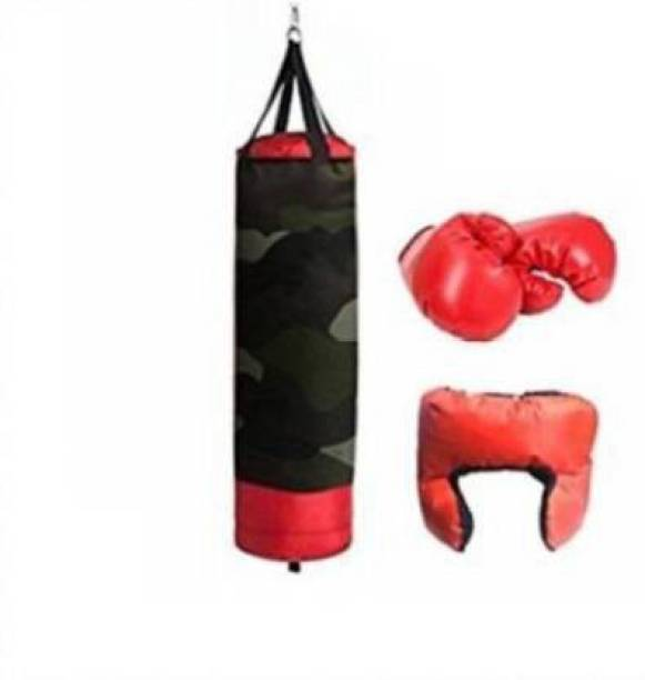 Aao je Supper Toy Boxing Kit No.1 With 2 Gloves and 1 Head guard For Kids 3 To 10 Years Boxing Training Kit(multi-designs) Boxing Kit