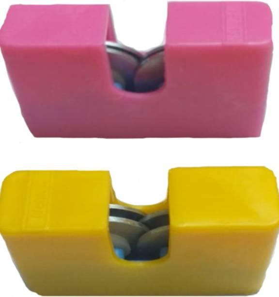 CRAZYGOL Multicolor Knife Sharpener (Carbon Steel, Anodized Alloy) set of 2 pcs Knife Sharpening Steel