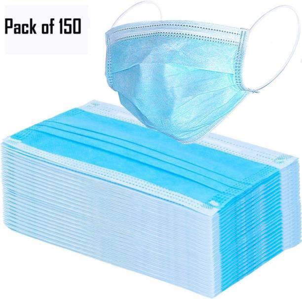 Maitri 12-15-1-3 12-15-1-3 3 ply mask pack of 150 washable mask face mask and surgical mask combo for men ane women combo-150 Water Resistant, Reusable, Washable Surgical Mask With Melt Blown Fabric Layer
