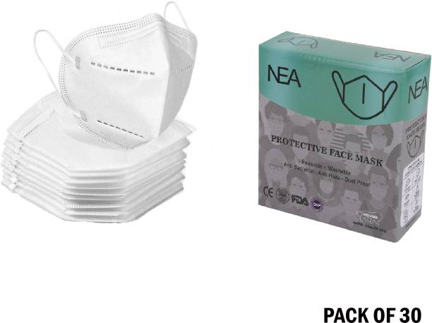 Nea N95 Certified 5 Layer Reusable Anti - Pollution , Anti - Virus Breathable Face Mask with 5 layers - Washable and Reusable with Nose Pin. mask respirator GV601 Water Resistant, Reusable, Washable