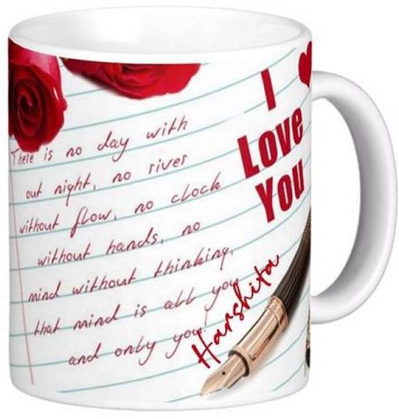 Exocticaa I Love You Harshita Romantic Message 81 Ceramic Coffee Mug