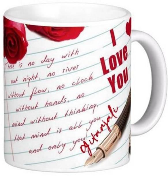 Exocticaa I Love You Gitanjali Romantic Message 81 Ceramic Coffee Mug