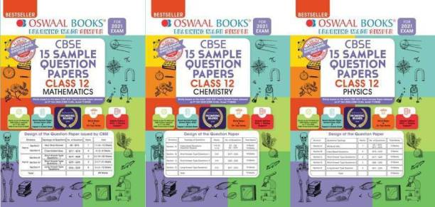Oswaal CBSE Sample Question Papers Class 12 Physics , Chemistry & Mathematics ( Combo.) ( Set Of 3 Books ) For Exam 2021