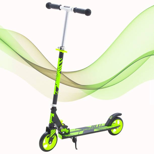 GoodLuck Baybee Runner Skate Scooter for Kids /Baby Runner Scooter with Adjustable Height, Foldable PU Wheels and Weight Capacity 60 kgs for Babies/Childrens Boys & Girls (2- to 5) Years (Green) Scooter Scooter