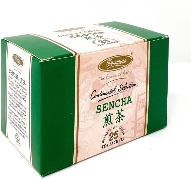 Premiers Sencha Green Tea | 25 Cups | 45 Grams | Tea Bags Green Tea Bags Box