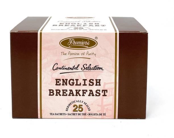 Premiers English Breakfast Tea | Garden Fresh Teas | 25 Cups | 50 Grams | Tea Bags Black Tea Bags Box
