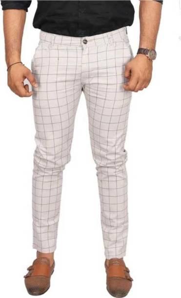 REEBOOT Slim Fit Men White Trousers