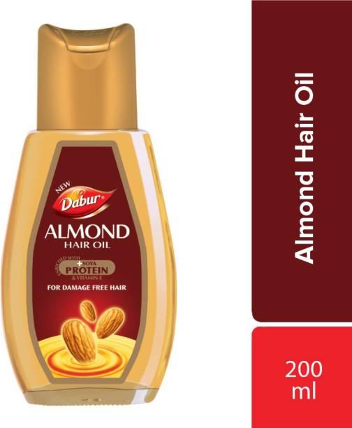 Dabur Almond Hair Oil with Almond, Soya Protein and Vitamin E Hair Oil