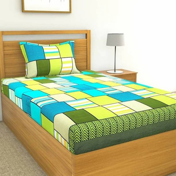HSR Collection 160 TC Cotton Single Checkered Bedsheet