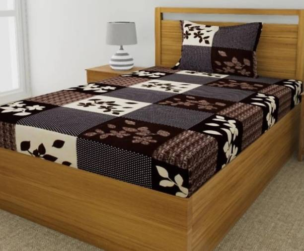 HSR Collection 160 TC Cotton Single Floral Bedsheet