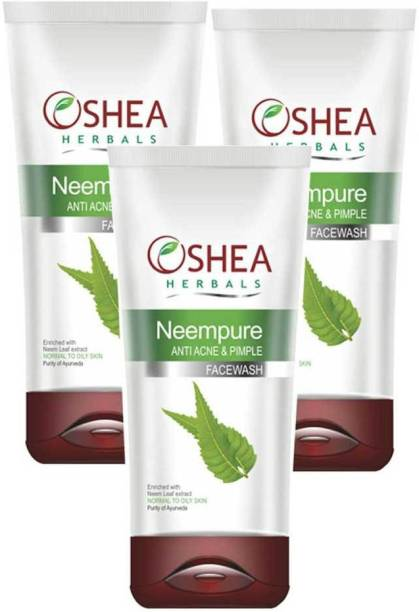 Oshea Herbals Neempure Anti Acne & Pimple 120 Gm(Pack of 3) Face Wash