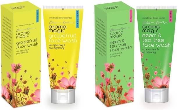 Aroma Magic Grape Fruit & Neem And Tea Tree Combo Pack of 2 Face Wash