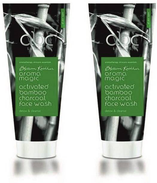Aroma Magic Activated Bamboo Charcoal Pack Of 2 Face Wash