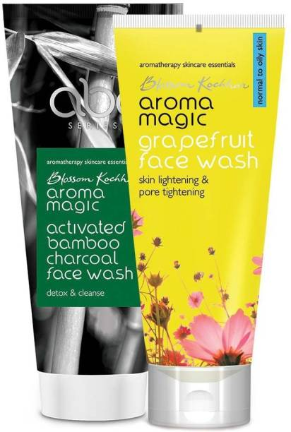 Aroma Magic Combo of Activated Bamboo Charcoal & Grapefruit Face Wash