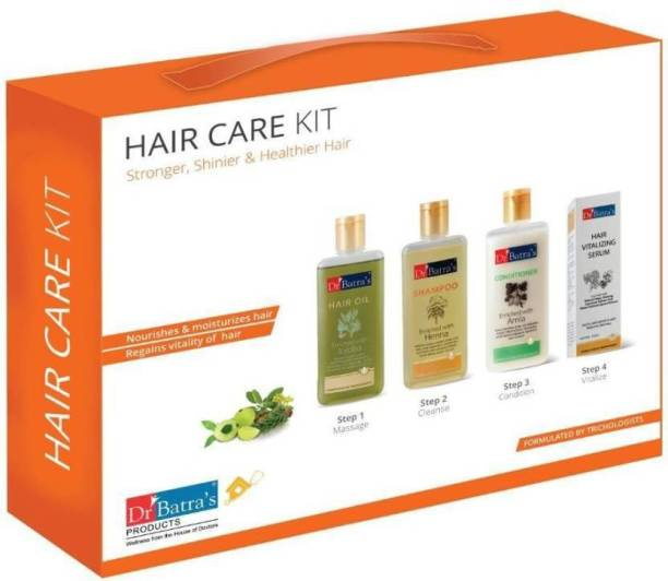 Dr. Batra's Hair Care Kit for Stronger, Shinier & Healthier Hair Hair Oil