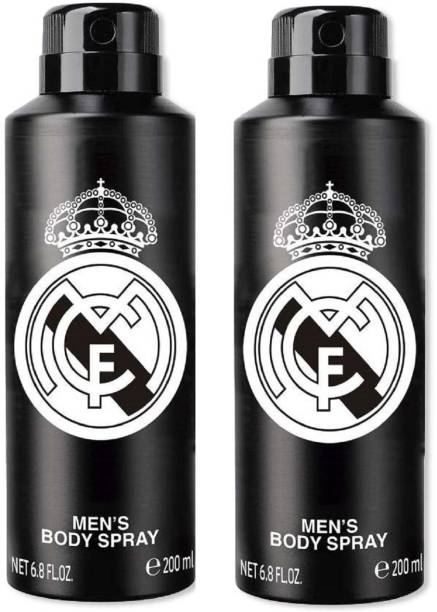 Real Madrid Original Black Combo Pack Of 2 Deodorant Spray  -  For Men